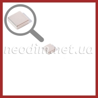 Неодимовый магнит квадрат 10х10х3мм, фото 1
