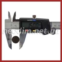 Магнит самоклейка Ø D15 mm х H1 mm (3м) фото 3