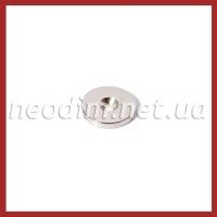 Магнит с зенковкой D20-7/3.5x3mm