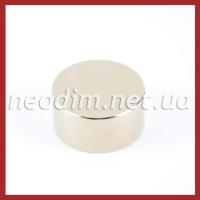 Неодимовий магнит диск D 40-20 мм