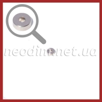 Фото Неодимового магнита кольца ᴓ D6 - 2 x H2 мм