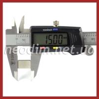 неодимовый магнит прямоугольник 15x10x2 мм, фото 2