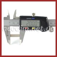 неодимовый магнит прямоугольник 38SH 20x6x2 мм, фото 2