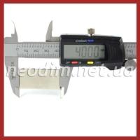 неодимовый магнит прямоугольник 40x20x2 мм, фото 2