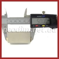 неодимовый магнит прямоугольник 50x25x15 мм, фото 2