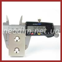 Магнит под потай 50x35x15mm-12/6.5mm х 2 отвер.