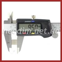 неодимовый магнит квадрат 9,5х9,5х2мм, фото 3
